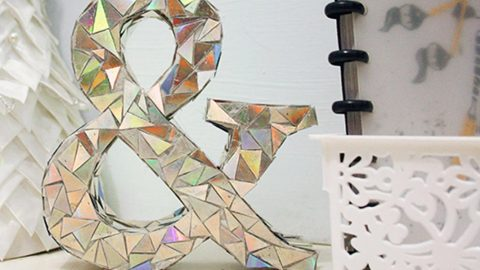 Watch How She Makes This Amazing DIY Mosaic Letter from Old CD's And Cereal Boxes! | DIY Joy Projects and Crafts Ideas