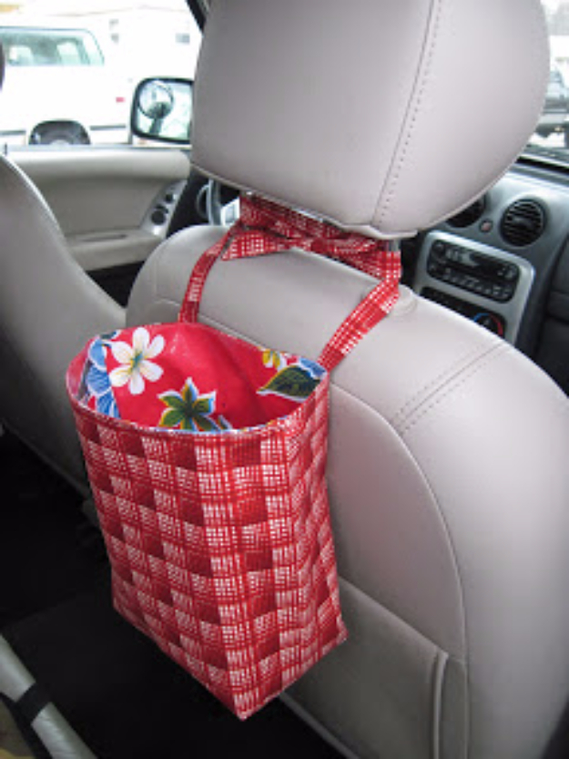 DIY Car Accessories and Ideas for Cars - Back Seat Bags - Interior and Exterior, Seats, Mirror, Seat Covers, Storage, Carpet and Window Cleaners and Products - Decor, Keys and Iphone and Tablet Holders - DIY Projects and Crafts for Women and Men http://diyjoy.com/diy-ideas-car