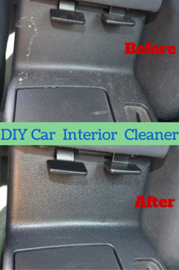 DIY Car Accessories and Ideas for Cars - Car Interior Cleaning Spray - Interior and Exterior, Seats, Mirror, Seat Covers, Storage, Carpet and Window Cleaners and Products - Decor, Keys and Iphone and Tablet Holders - DIY Projects and Crafts for Women and Men http://diyjoy.com/diy-ideas-car