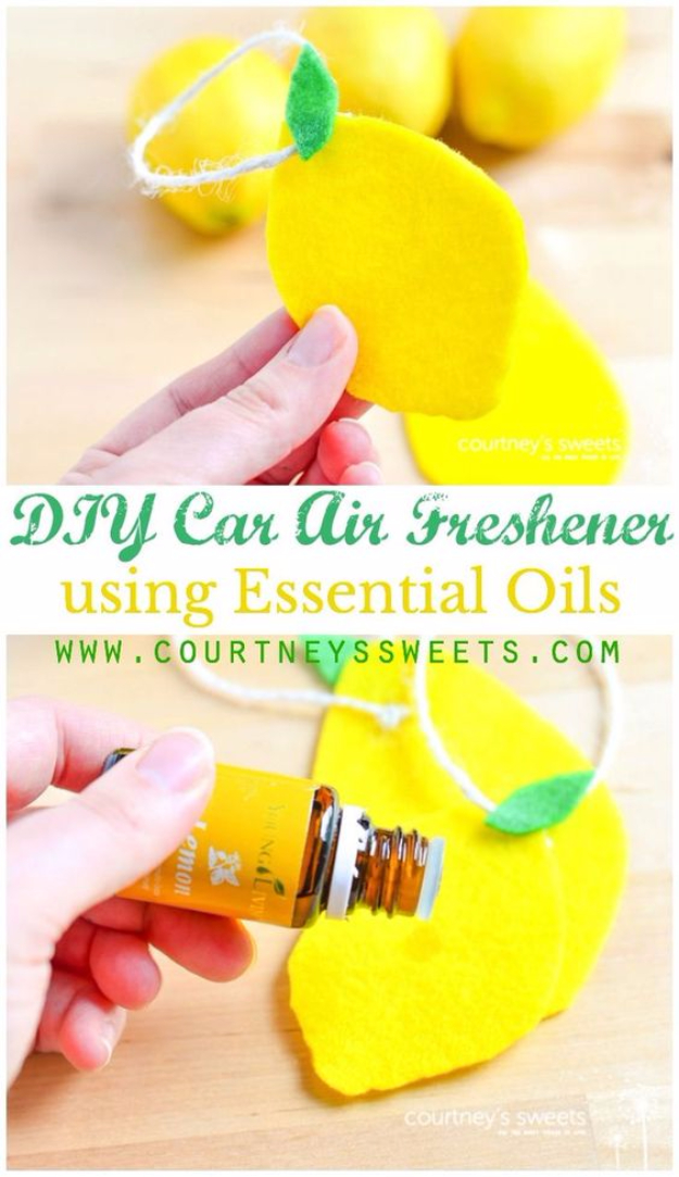 DIY Car Accessories and Ideas for Cars - DIY Car Air Freshener Using Essential Oils - Interior and Exterior, Seats, Mirror, Seat Covers, Storage, Carpet and Window Cleaners and Products - Decor, Keys and Iphone and Tablet Holders - DIY Projects and Crafts for Women and Men http://diyjoy.com/diy-ideas-car