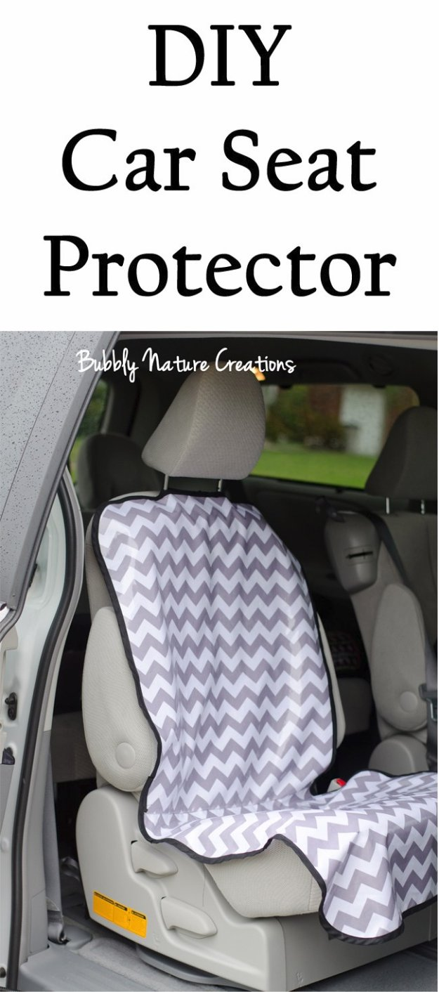 DIY Car Accessories and Ideas for Cars - DIY Car Seat Protector - Interior and Exterior, Seats, Mirror, Seat Covers, Storage, Carpet and Window Cleaners and Products - Decor, Keys and Iphone and Tablet Holders - DIY Projects and Crafts for Women and Men http://diyjoy.com/diy-ideas-car