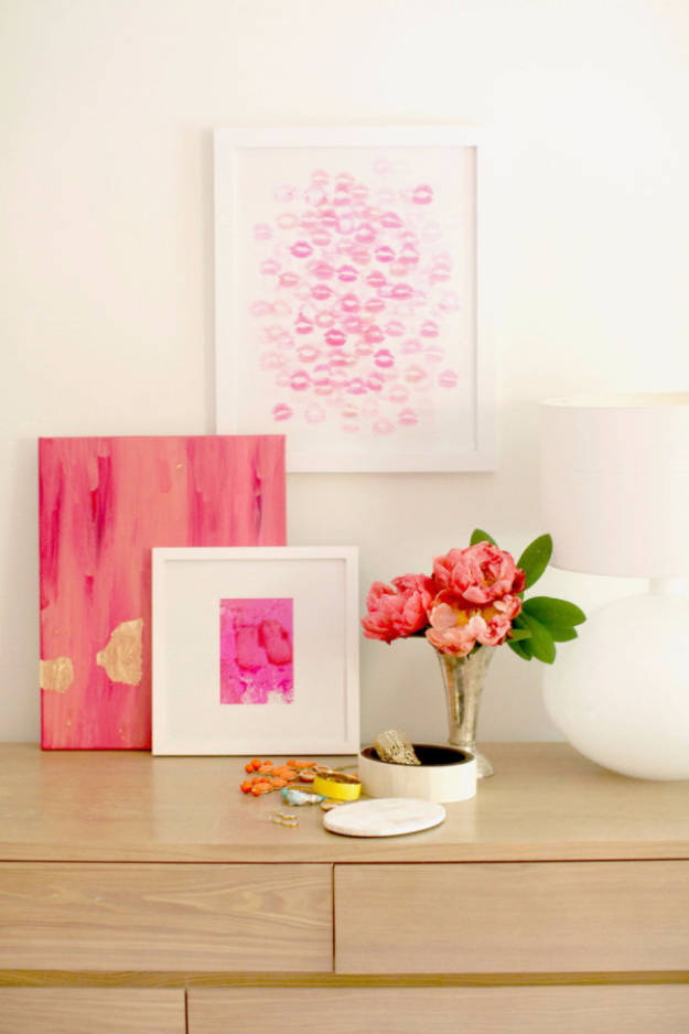 Best DIY Valentines Day Gifts - DIY Kiss Artwork - Cute Mason Jar Valentines Day Gifts and Crafts for Him and Her   Boyfriend, Girlfriend, Mom and Dad, Husband or Wife, Friends - Easy DIY Ideas for Valentines Day for Homemade Gift Giving and Room Decor   Creative Home Decor and Craft Projects for Teens, Teenagers, Kids and Adults http://diyjoy.com/diy-valentines-day-gift-ideas
