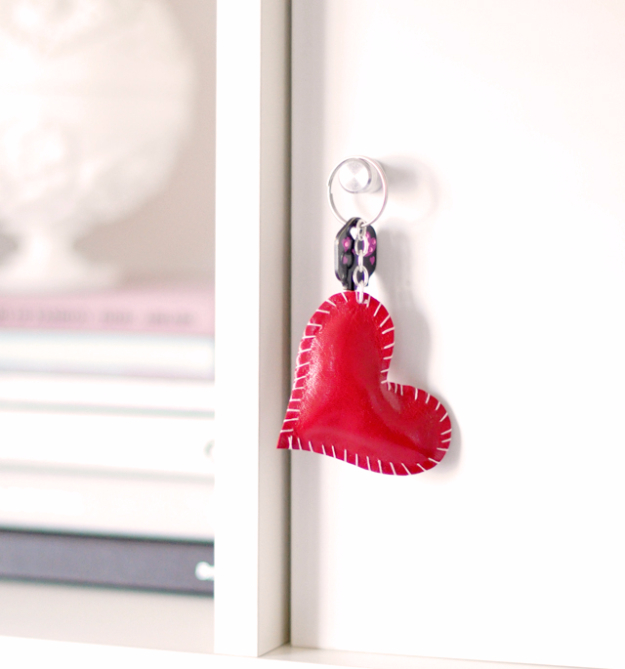 Best DIY Valentines Day Gifts - DIY Leather Heart Keyring - Cute Mason Jar Valentines Day Gifts and Crafts for Him and Her   Boyfriend, Girlfriend, Mom and Dad, Husband or Wife, Friends - Easy DIY Ideas for Valentines Day for Homemade Gift Giving and Room Decor   Creative Home Decor and Craft Projects for Teens, Teenagers, Kids and Adults http://diyjoy.com/diy-valentines-day-gift-ideas