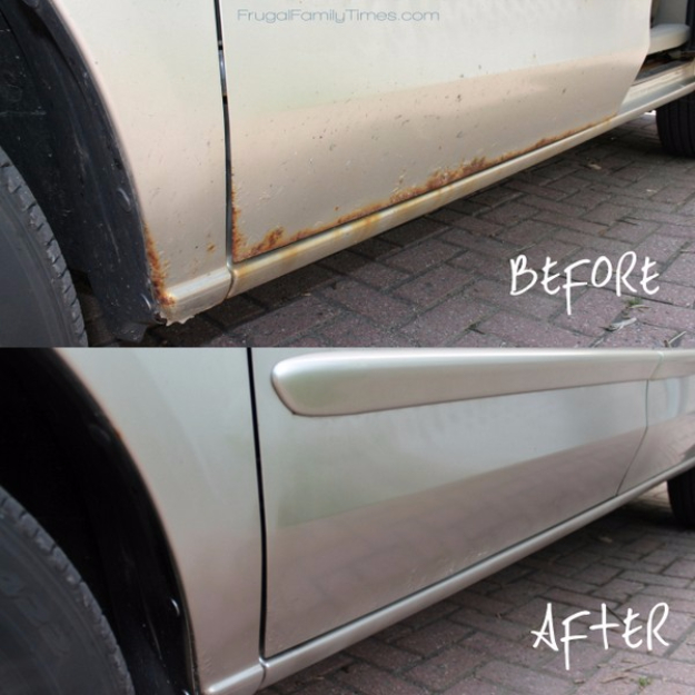 DIY Car Accessories and Ideas for Cars - DIY Rust Removal - Interior and Exterior, Seats, Mirror, Seat Covers, Storage, Carpet and Window Cleaners and Products - Decor, Keys and Iphone and Tablet Holders - DIY Projects and Crafts for Women and Men http://diyjoy.com/diy-ideas-car