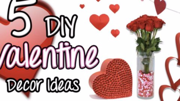DIY Valentine Decor Ideas - DIY Valentine Decor - Cute and Easy Home Decor Projects for Valentines Day Decorating - Best Homemade Valentine Decorations for Home, Tables and Party, Kids and Outdoor - Romantic Vintage Ideas - Cheap Dollar Store and Dollar Tree Crafts http://diyjoy.com/easy-valentine-decorations