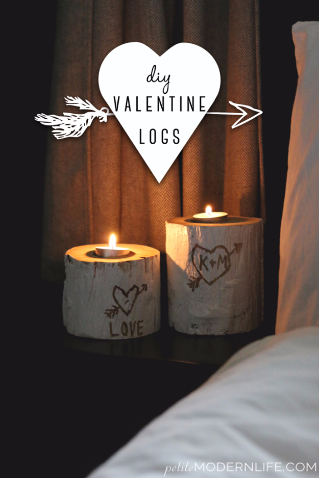 Best DIY Valentines Day Gifts - DIY Valentine Logs - Cute Mason Jar Valentines Day Gifts and Crafts for Him and Her   Boyfriend, Girlfriend, Mom and Dad, Husband or Wife, Friends - Easy DIY Ideas for Valentines Day for Homemade Gift Giving and Room Decor   Creative Home Decor and Craft Projects for Teens, Teenagers, Kids and Adults http://diyjoy.com/diy-valentines-day-gift-ideas