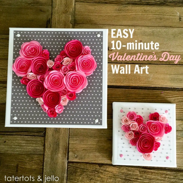 Best DIY Valentines Day Gifts - Easy Valentines Day Wall Art - Cute Mason Jar Valentines Day Gifts and Crafts for Him and Her   Boyfriend, Girlfriend, Mom and Dad, Husband or Wife, Friends - Easy DIY Ideas for Valentines Day for Homemade Gift Giving and Room Decor   Creative Home Decor and Craft Projects for Teens, Teenagers, Kids and Adults http://diyjoy.com/diy-valentines-day-gift-ideas
