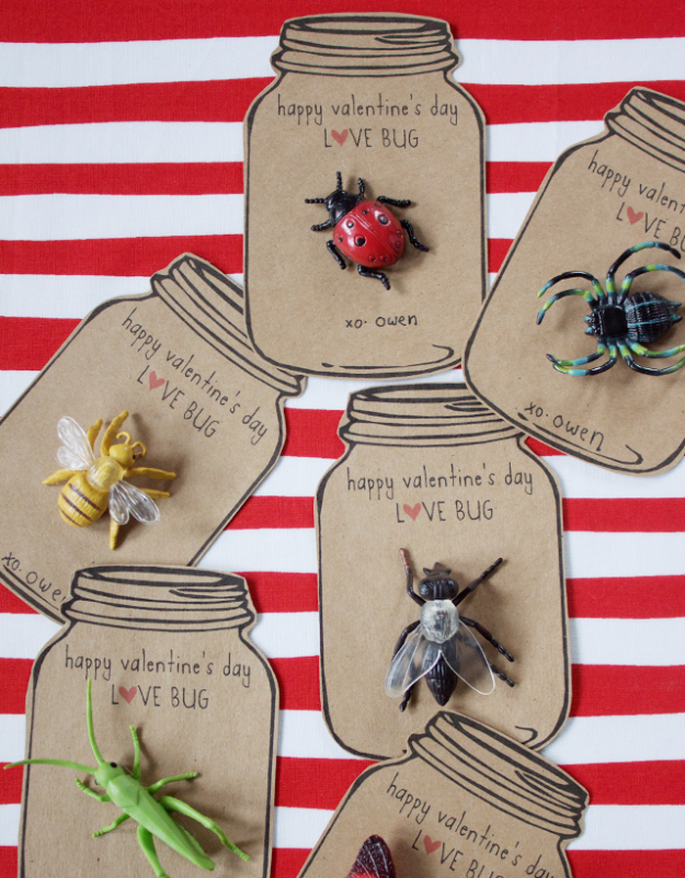 DIY Valentine Decor Ideas - Love Bug Valentines - Cute and Easy Home Decor Projects for Valentines Day Decorating - Best Homemade Valentine Decorations for Home, Tables and Party, Kids and Outdoor - Romantic Vintage Ideas - Cheap Dollar Store and Dollar Tree Crafts http://diyjoy.com/easy-valentine-decorations