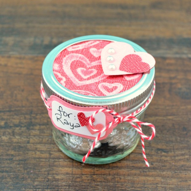 Best DIY Valentines Day Gifts - Mason Jar Valentine Gift - Cute Mason Jar Valentines Day Gifts and Crafts for Him and Her   Boyfriend, Girlfriend, Mom and Dad, Husband or Wife, Friends - Easy DIY Ideas for Valentines Day for Homemade Gift Giving and Room Decor   Creative Home Decor and Craft Projects for Teens, Teenagers, Kids and Adults http://diyjoy.com/diy-valentines-day-gift-ideas