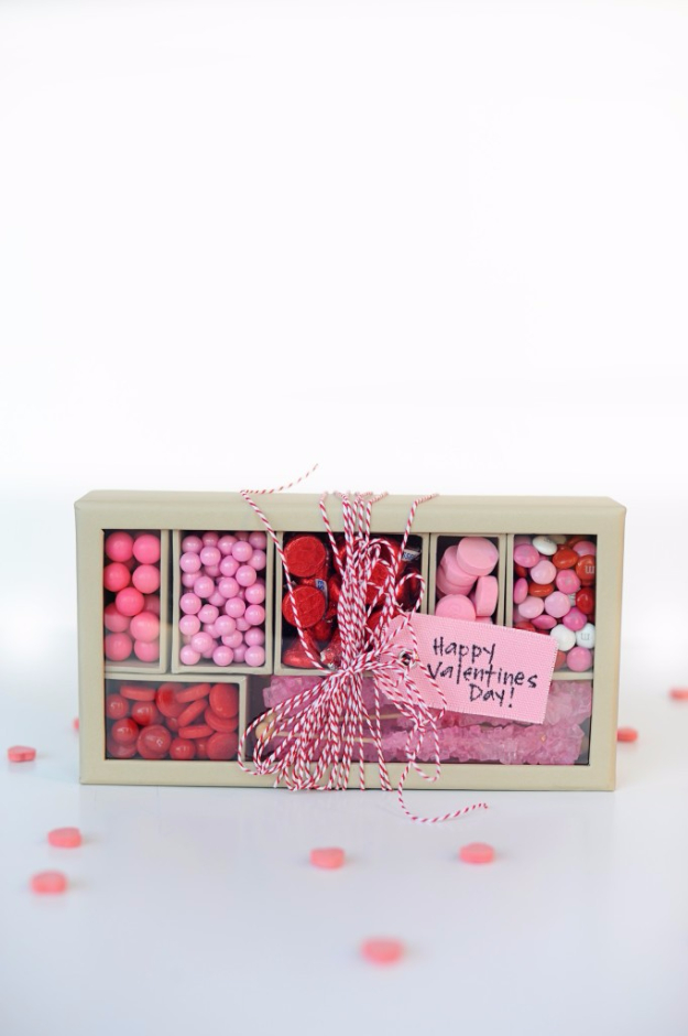 Best DIY Valentines Day Gifts - Pink And Red Candy Box - Cute Mason Jar Valentines Day Gifts and Crafts for Him and Her   Boyfriend, Girlfriend, Mom and Dad, Husband or Wife, Friends - Easy DIY Ideas for Valentines Day for Homemade Gift Giving and Room Decor   Creative Home Decor and Craft Projects for Teens, Teenagers, Kids and Adults http://diyjoy.com/diy-valentines-day-gift-ideas