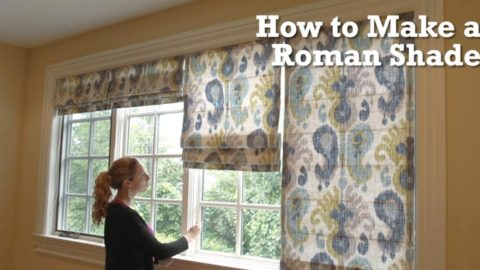 Watch How Easily She Makes This Beautiful Roman Shade And She Shows Us How It's Done!   DIY Joy Projects and Crafts Ideas
