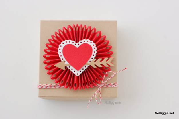 Best DIY Valentines Day Gifts - Rosette Heart Box - Cute Mason Jar Valentines Day Gifts and Crafts for Him and Her   Boyfriend, Girlfriend, Mom and Dad, Husband or Wife, Friends - Easy DIY Ideas for Valentines Day for Homemade Gift Giving and Room Decor   Creative Home Decor and Craft Projects for Teens, Teenagers, Kids and Adults http://diyjoy.com/diy-valentines-day-gift-ideas