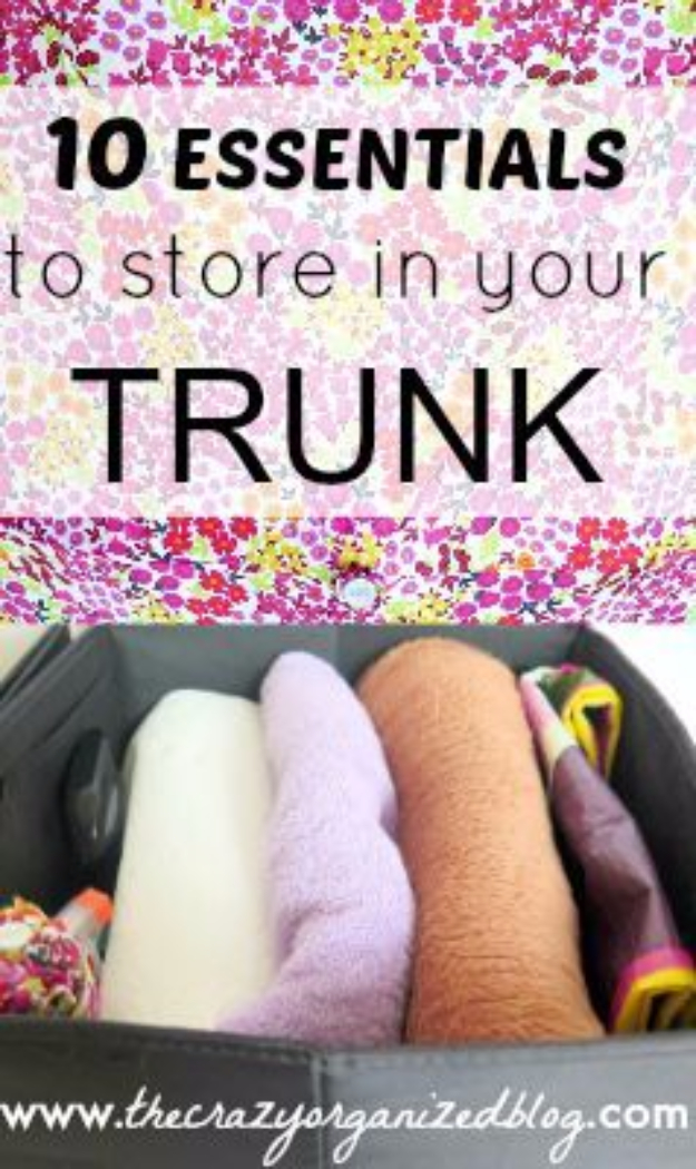 DIY Car Accessories and Ideas for Cars - Trunk Essentials - Interior and Exterior, Seats, Mirror, Seat Covers, Storage, Carpet and Window Cleaners and Products - Decor, Keys and Iphone and Tablet Holders - DIY Projects and Crafts for Women and Men http://diyjoy.com/diy-ideas-car