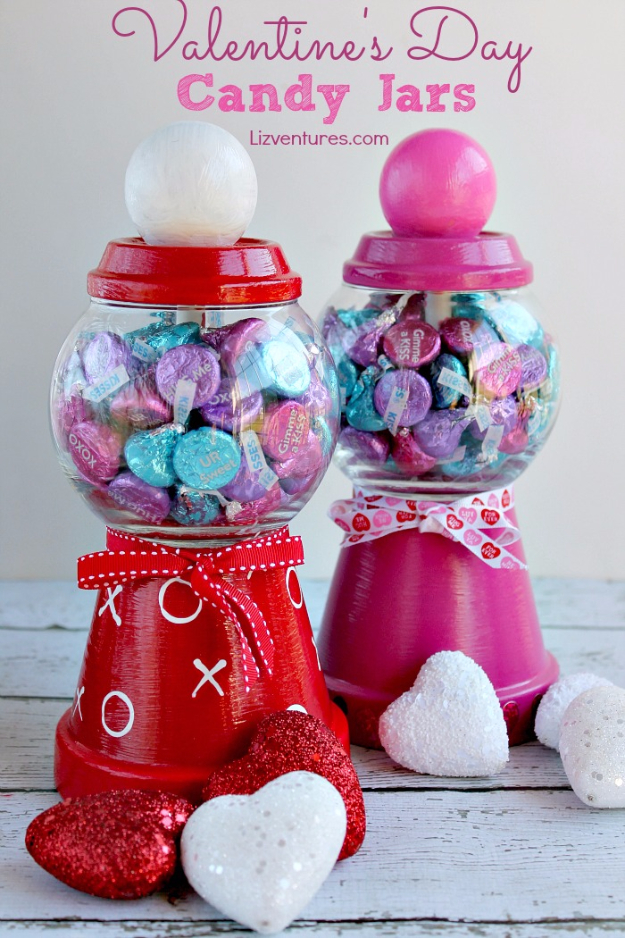 Best DIY Valentines Day Gifts - Valentines Day Candy Jars - Cute Mason Jar Valentines Day Gifts and Crafts for Him and Her   Boyfriend, Girlfriend, Mom and Dad, Husband or Wife, Friends - Easy DIY Ideas for Valentines Day for Homemade Gift Giving and Room Decor   Creative Home Decor and Craft Projects for Teens, Teenagers, Kids and Adults http://diyjoy.com/diy-valentines-day-gift-ideas