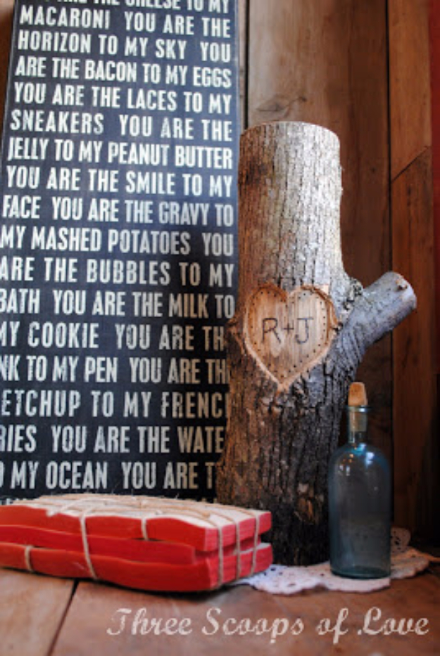 Best DIY Valentines Day Gifts - You And Me On A Tree - Cute Mason Jar Valentines Day Gifts and Crafts for Him and Her   Boyfriend, Girlfriend, Mom and Dad, Husband or Wife, Friends - Easy DIY Ideas for Valentines Day for Homemade Gift Giving and Room Decor   Creative Home Decor and Craft Projects for Teens, Teenagers, Kids and Adults http://diyjoy.com/diy-valentines-day-gift-ideas