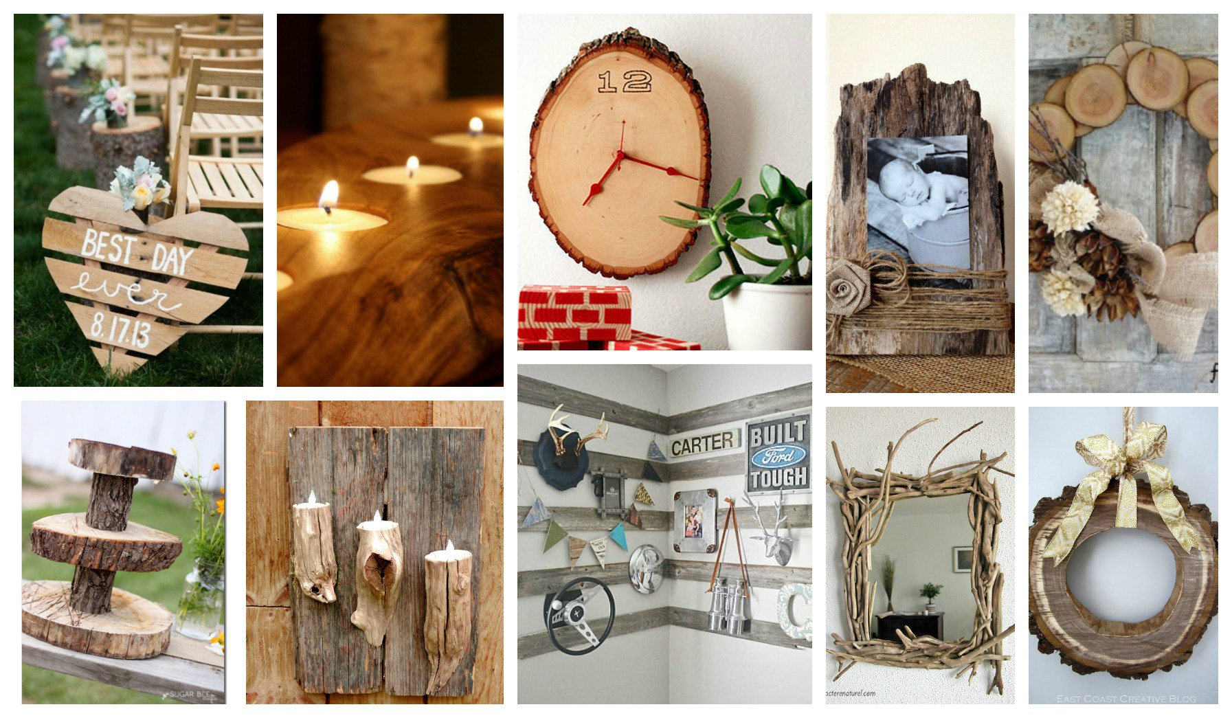 Stupendous diy rustic wood decor that will make you say for Rustic home decor and woodworking