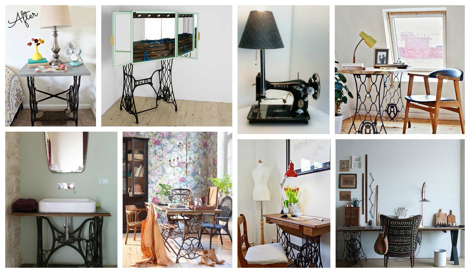 Spectacular Reused Sewing Machines In Home Decor That You Shouldn\'t ...