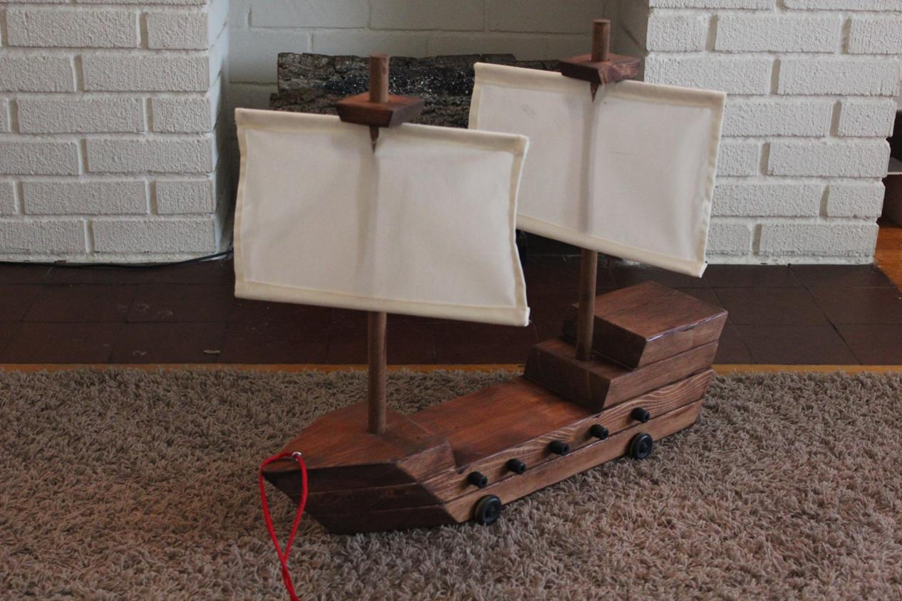 Diy toy pirate ship diy arts and crafts for Anything made by waste material