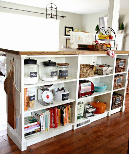 Diy Bookcase Kitchen Island: DIY Kitchen Islands To Expand Your Space