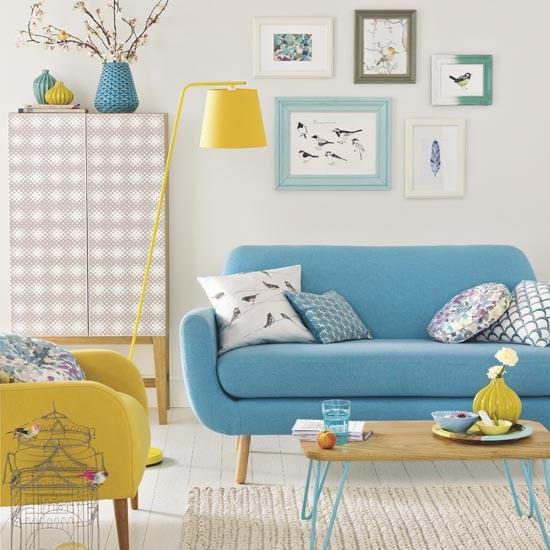 Try these simple design ideas to update your living room for Living room ideas mustard