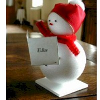 DIY Snowman Placecards