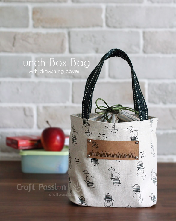 how to diy a lunch box bag diy arts and crafts. Black Bedroom Furniture Sets. Home Design Ideas