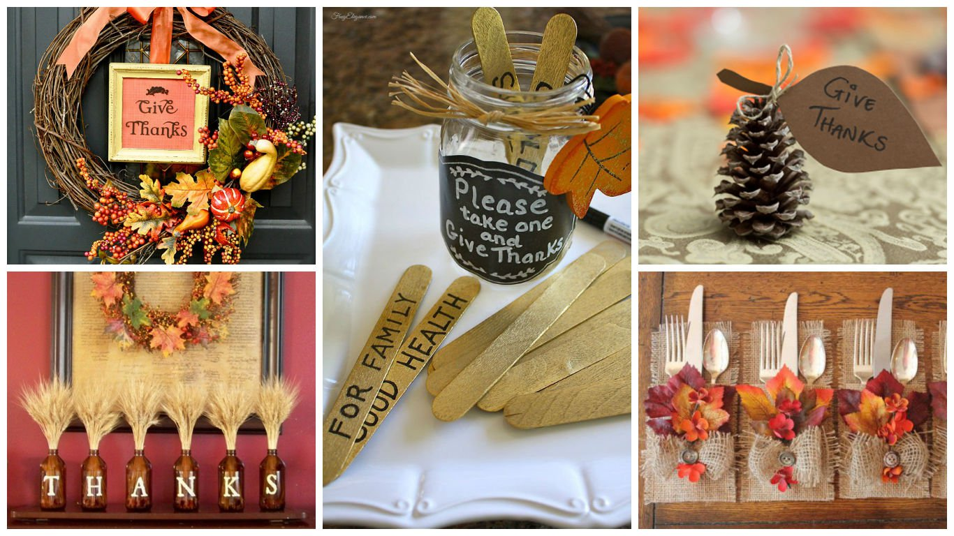 19 Totally Easy Inexpensive Diy Thanksgiving Decorations Diy Arts And Crafts