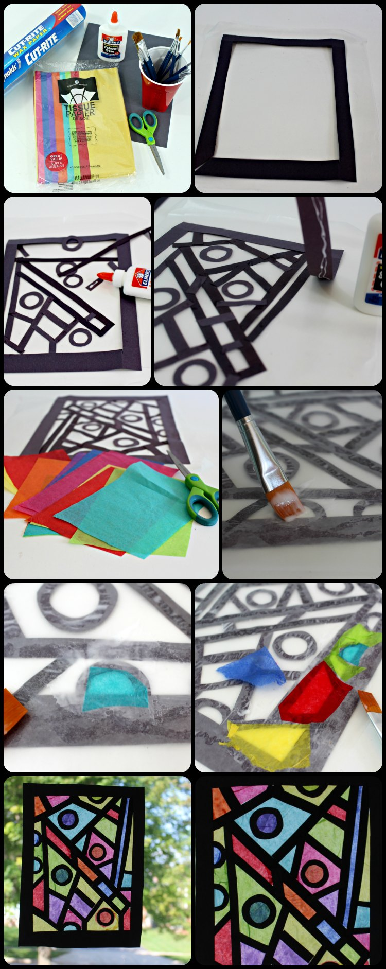 Look These Tips : How to Make a art projects like stained glass window