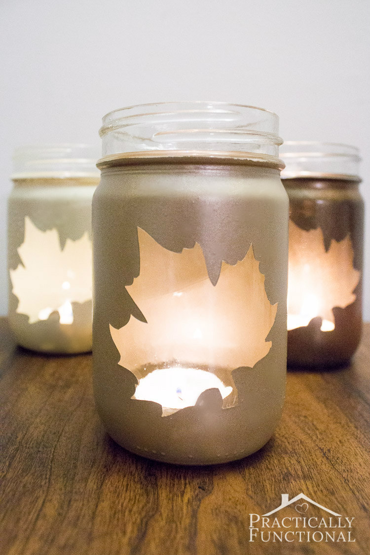 HOW TO MAKE SILHOUETTE CANDLE JARS