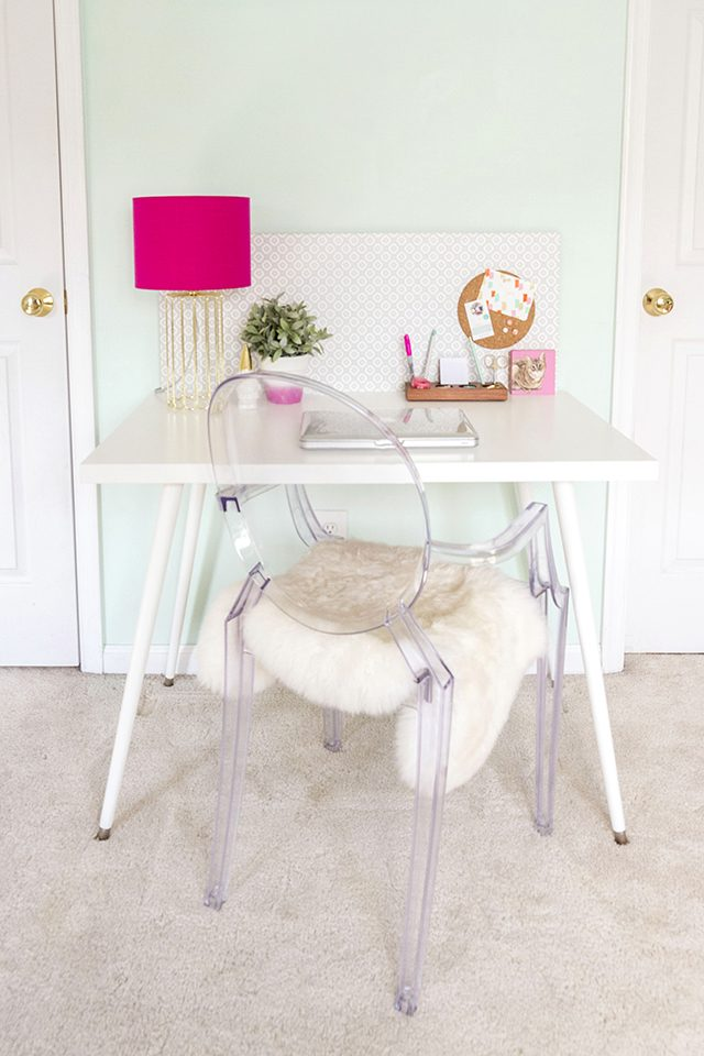 Create your own version of a retro, mid-century inspired desk